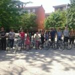 alumnos de los cursos para aprender a montar en bicicleta